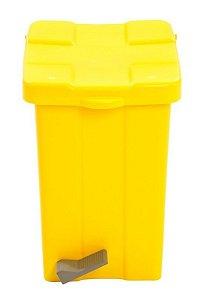 Lixeira Pedal 15lts Quadrada Amarela Jsn unid