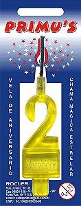 Vela Acrilica nº0 Amarela unid (consultar disponibilidade na loja)