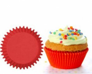 Forma papel Cupcake Vermelho c/45 unids (consultar disponibilidade antes da compra)