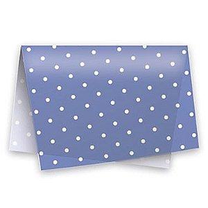 Papel Seda Azul c/ Branco (Poá) c/ 50 unids