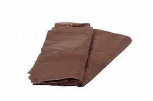 Saco lixo 60lts Marrom (0,7) c/100 unids