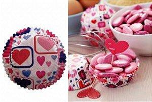 Forma papel Mini Cupcake Coração c/45 unids (consultar disponibilidade antes da compra)