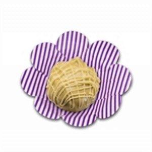 Forma Papel Cartão Flor Listras Roxa c/50 unids (consultar disponibilidade antes da compra)
