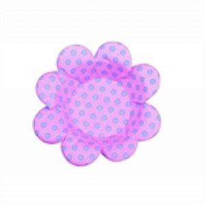Forma Papel Cartão Flor Poá Rosa/Azul c/50 unids (consultar disponibilidade antes da compra)