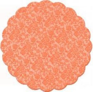 Fundo rendado celofane 09cm laranja c/100 unids