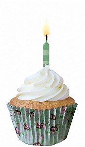 Forma Papel Cupcake Flores c/45 unids (consultar disponibilidade antes da compra)