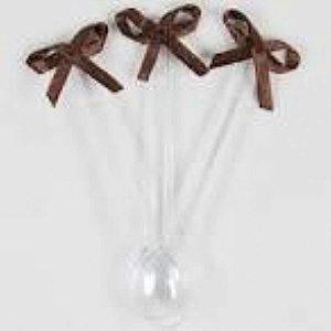 Mini colher com laço marrom 20 unids (consultar disponibilidade antes da compra)