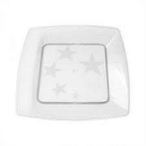 Prato Acrilico 21x21cm Square Cristal 300 unids