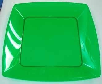 Prato Acrilico 15x15cm Square verde c/ 400
