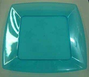 Prato Acrilico 15x15cm Square Azul c/400
