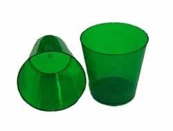 Copo Acrilico 25ml Verde c/10 unids