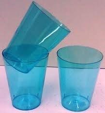 Copo Acrilico 300ml Azul c/10 unids