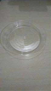 Prato Acrilico 15cm Cristal redondo c/10 unids