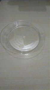 Prato Acrilico 15cm redondo cristal c/200 unids