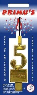 Vela Acrilica nº4 Ouro unid (consultar disponibilidade na loja antes da compra)