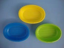 Cumbuca Plastica Oval Amarela Trik Trik c/10 unids  (consultar disponibilidade antes da compra)