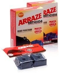 Raticida Arraze Bloco Parafinado C/2 unids