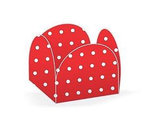 Forma Papel Cartão Petalas Poá Vermelho c/50 unids