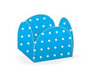 Forma Papel Cartão Petalas Poá Azul c/50 unids
