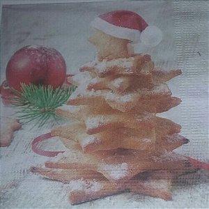 Guardanapo 33x33 Natal (Arvore de biscoito) Fl Tripla 20 unids