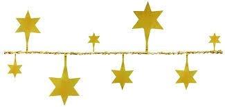 Fio Metalizado Fantasia Estrela pq Ouro 2,70mts