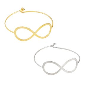 Bracelete Liso Infinito