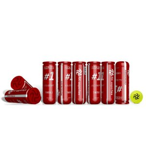 Pack c/ 40 Bolas de Tênis Premium AX Esportes Tubo com 3