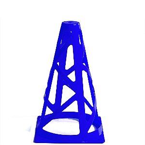 Cone de 18cm Flexível para Treinamento AX Esportes Azul