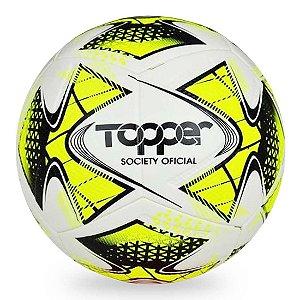 Bola de Futebol Society Topper 22 Amarelo