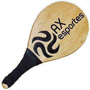 Raquete de Frescobol de Madeira AX Esportes Tradicional