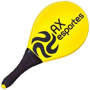Raquete para Frescobol AX Esportes Evolution Amarela