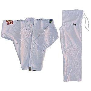 Kimono Adulto de Jiu Jitsu AX Esportes Trançado Branco
