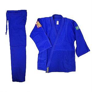 Kimono Adulto de Judô AX Esportes Trançado Azul