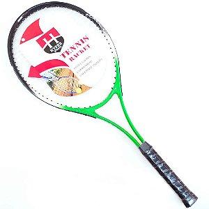 Raquete de Tênis Juvenil T25 Alumínio Verde c/ Capa