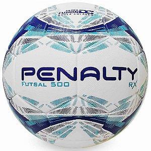 Bola de Futsal Penalty RX 500 IX Branca e Azul
