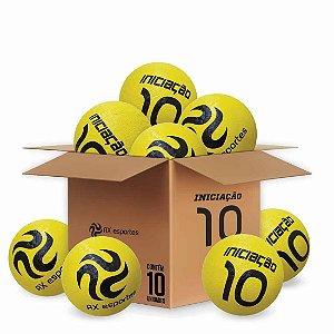Pack c/ 10 Bolas de Iniciação AX Esportes Nº10 - Amarela
