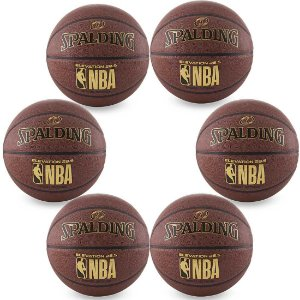 Pack c/ 6 Bolas Spalding De Basquete Microfibra NBA Tam. 7