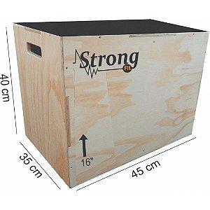 """Caixa de Crossfit Strong  16"""" - 40 x 45 x 35cm"""