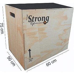 """Caixa de Crossfit Strong  30"""" - 75 x 60 x 50cm"""