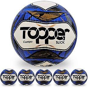 Pack com 6 Bolas de Futebol de Campo Topper Slick II