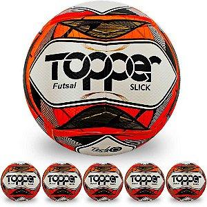 Pack com 6 Bolas de Futsal Topper Slick II
