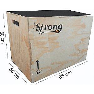 """Caixa de Crossfit Strong  24"""" - 60 x 65 x 50cm"""