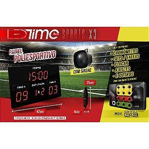 Placar Eletrônico de LED Futebol Futsal e Society Placar Esportivo