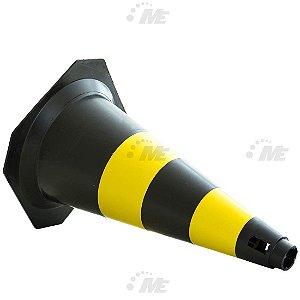 Pack c/ 10 Cones de 50cm AX Esportes - Preto e Amarelo