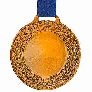 Medalha AX Esportes Bronzeada Futebol 55mm (Contém 10 unidades)