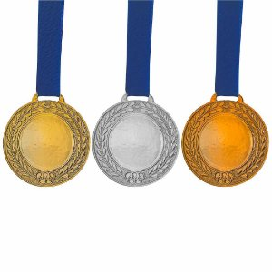 Medalha AX Esportes Prateada Futebol 55mm (Contém 10 unidades)