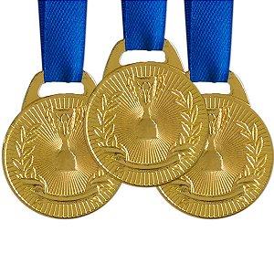 Pack c/ 10 Medalhas AX Esportes 35mm Honra ao Mérito Douradas-FA466