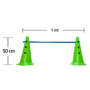 Kit Agilidade 2 Cones 50cm e 1 Barreira 1mt