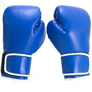 Luva de Boxe 10 Onças PRO AX Esportes Azul (Par)-Y330