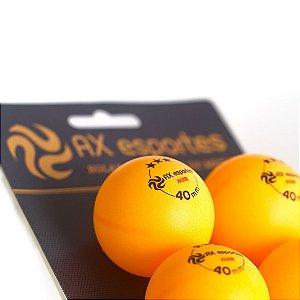 Bola de Tênis de Mesa Oficial 3 Estrelas AX Esportes com 6 - FA491